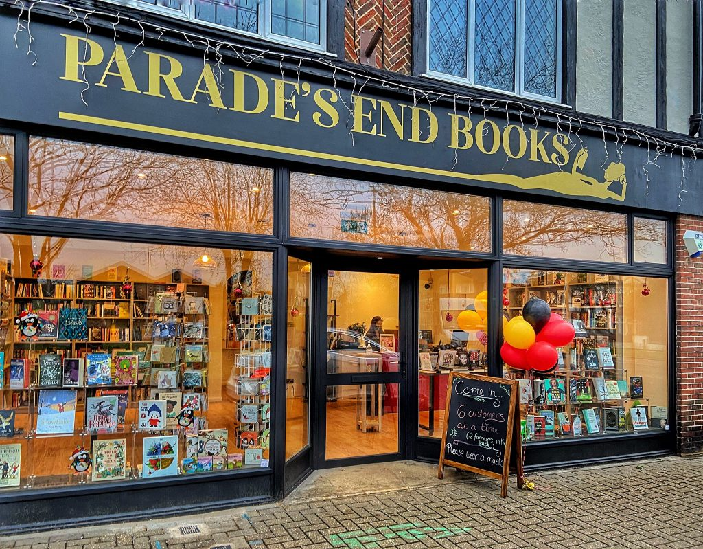 The outside of Parade's End Books on Ham Parade, photo credit Andrew Wilson