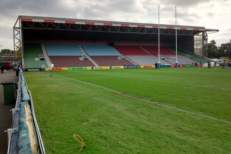 Twickenham Stoop South Stand interior