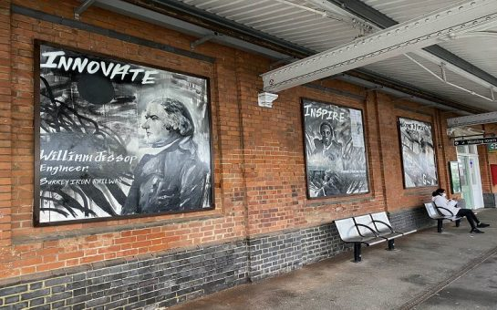 Purley station art on display, Samuel Coleridge-Taylor, Amy Johnson, William Jessop