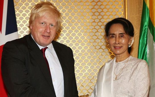 Boris Johnson with Aung San Suu Kyi Feature