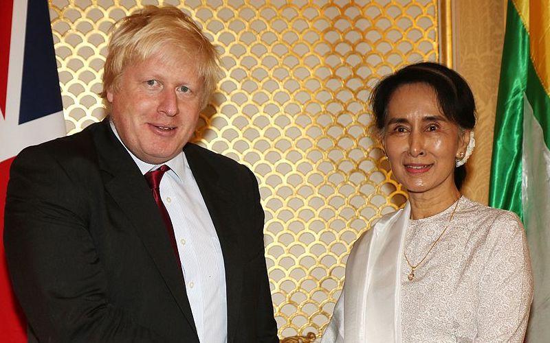 Boris Johnson with Aung San Suu Kyi Feature