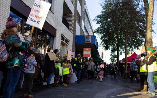 friends of the south norwood library protest