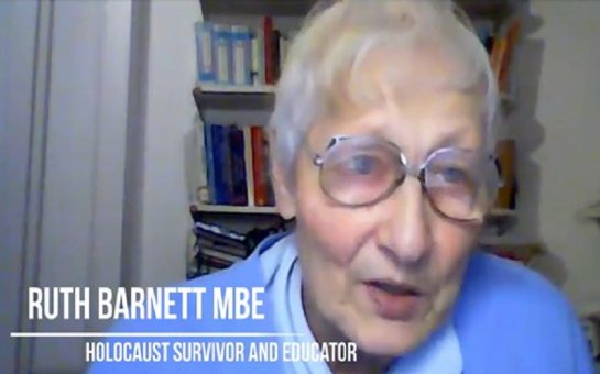 Screenshot of Ruth Barnett MBE interivew