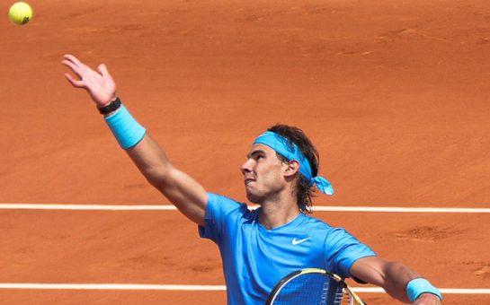 Rafael Nadal serve