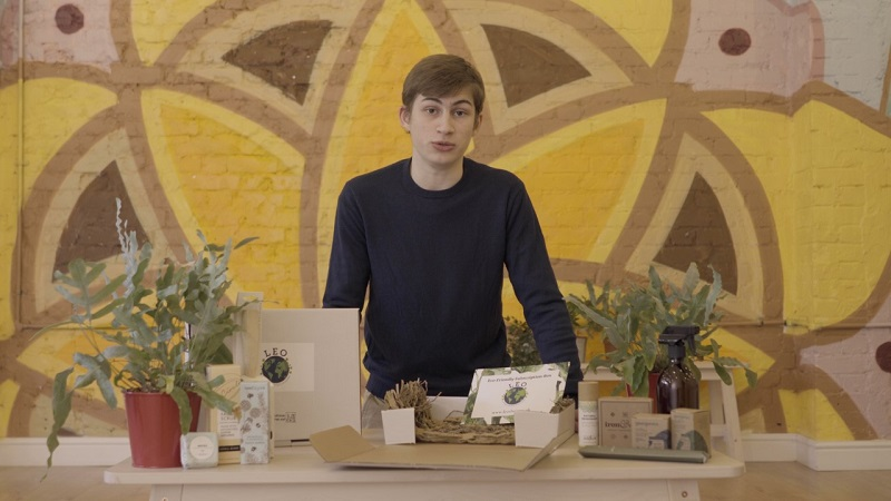 Lysander Bickham with his products