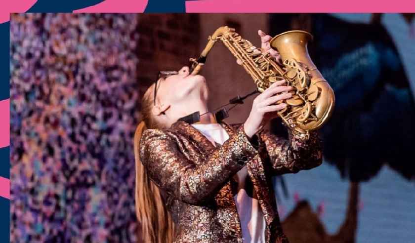 saxophonist performing