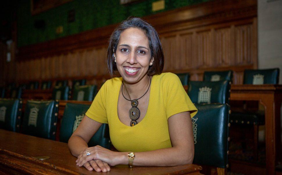 Munira Wilson in her chair in Parliamentary office