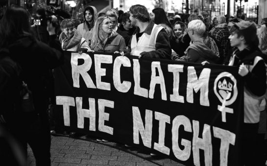 reclaim the night banner
