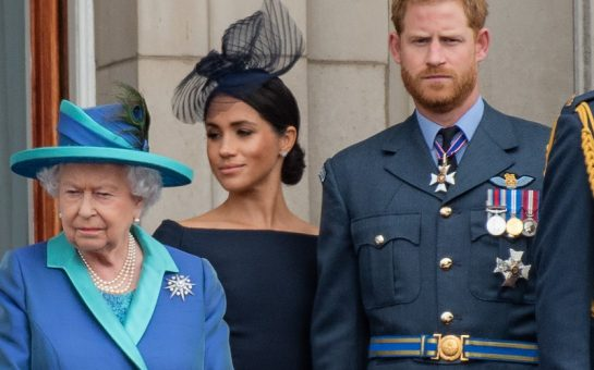 The Queen, Harry, and Meghan