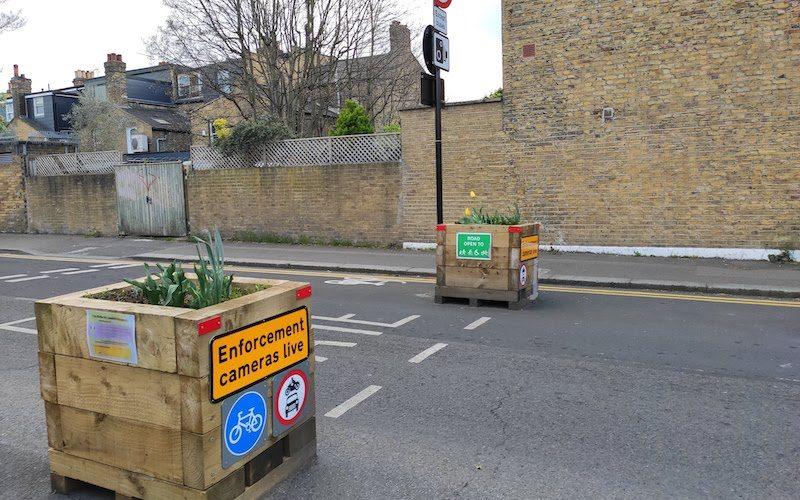 Low traffic neighbourhood road sign