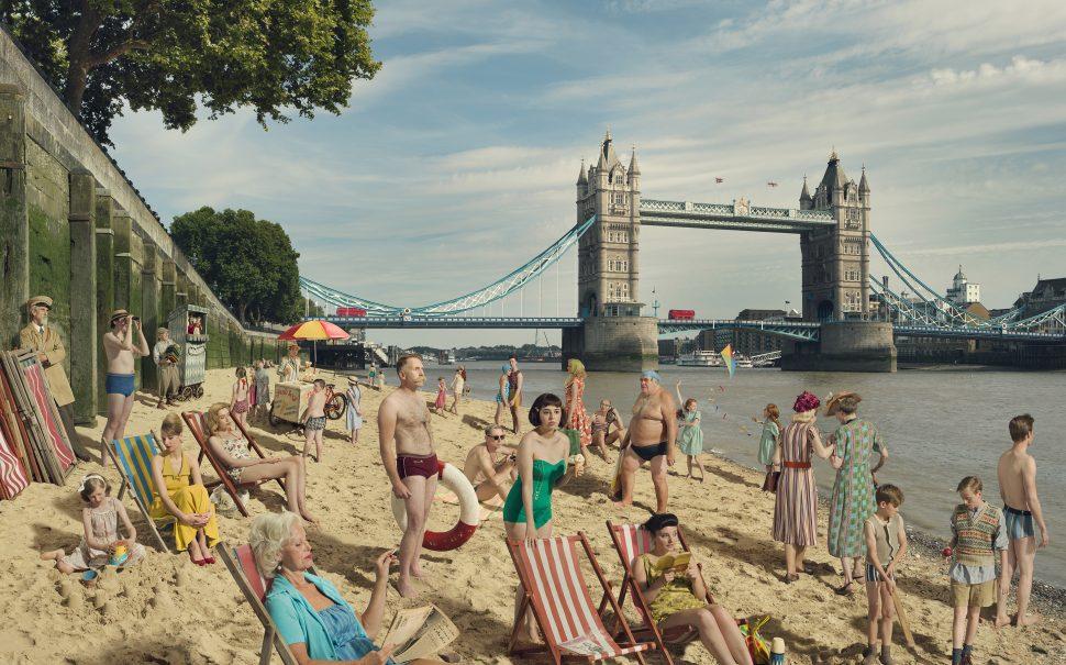 River Thames Fine Art Photograph Julia Fullerton-Batten London Bridge Beach