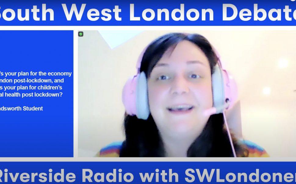 Screenshot Hannah Graham Green Party South West London Debate Riverside Radio