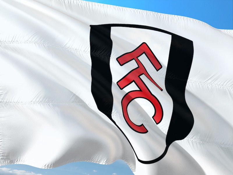 a photo of fulham fc flag waving in the wind