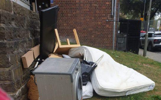Furniture discarded around Ashburton Estate in West Putney