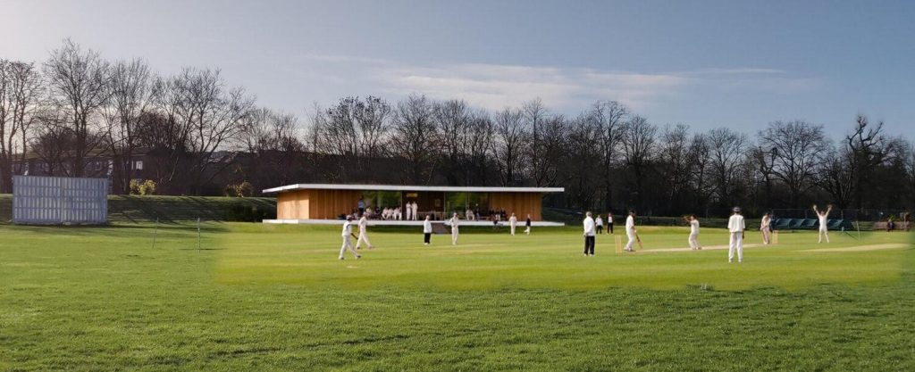 Proposed plans for new pavilion for acton cricket club