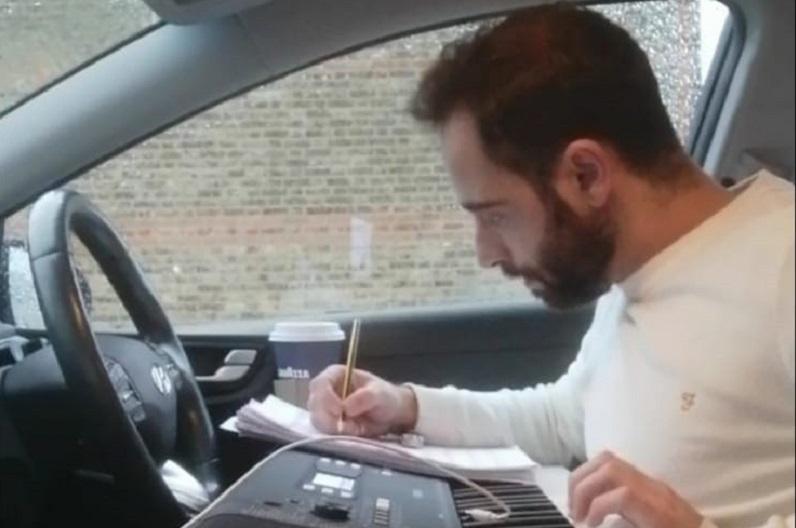 raffaele in his uber writing music
