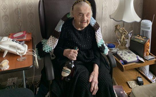 Betty Racher and her brandy