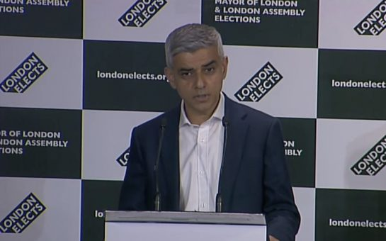 Saduq Khan delivers a speech as Mayor of London