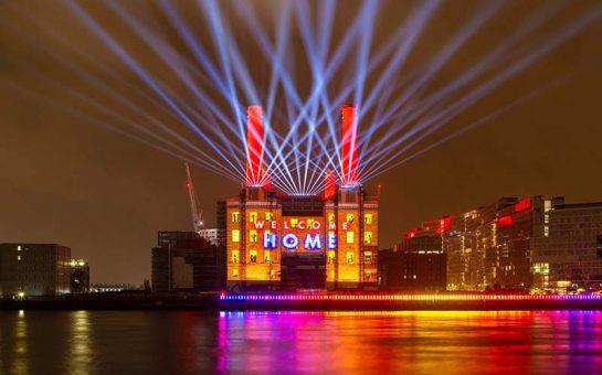 Battersea Power Station Light Show