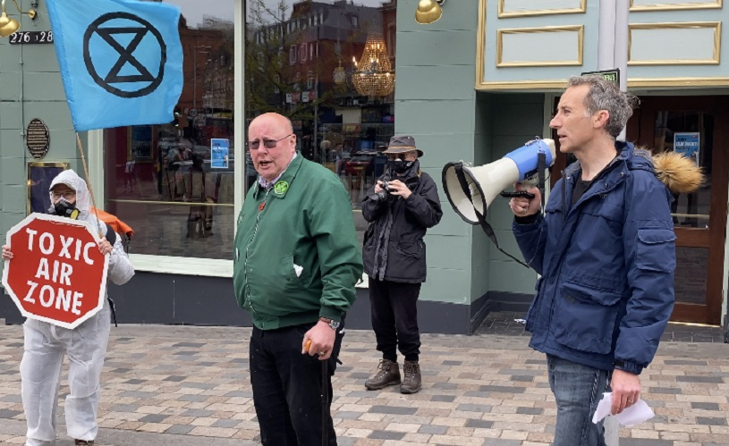 Extinction Rebellion protest at Clapham Junction