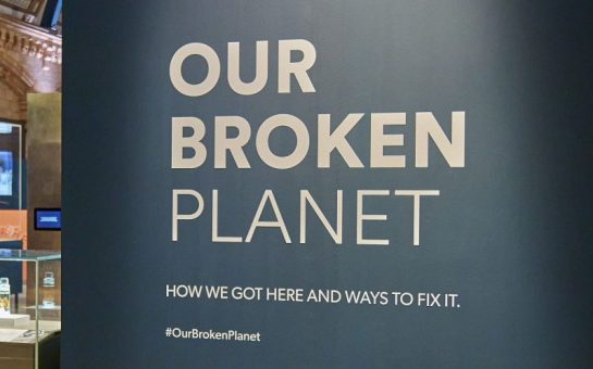 Our Broken Planet sign