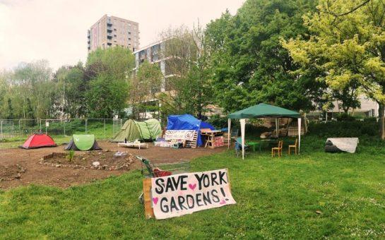 York Gardens protest