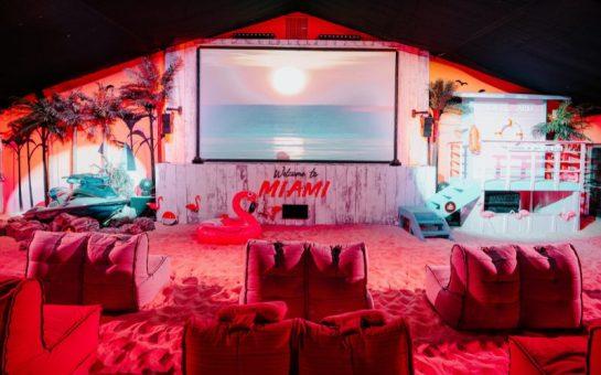 Backyard Cinema Miami Nights screen