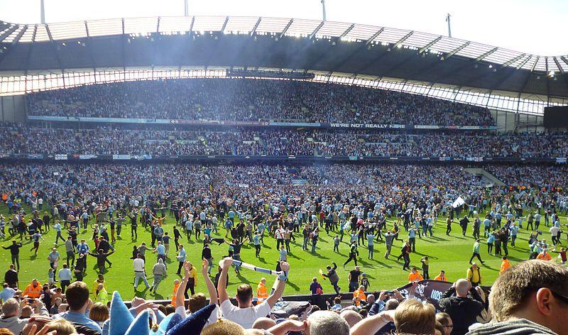 Man City pitch invasion