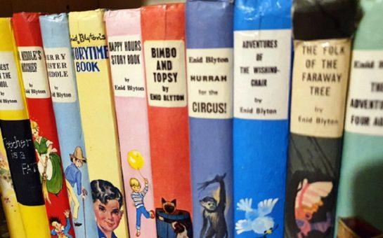Enid Blyton Books on a shelf.