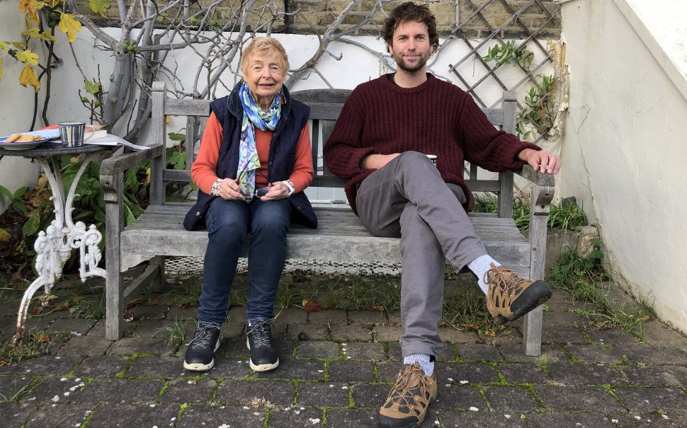 Ben and Wendy on a bench