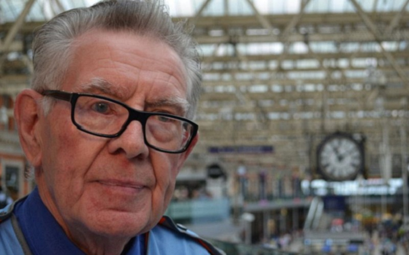 Don Buckley, longest-serving railway employee