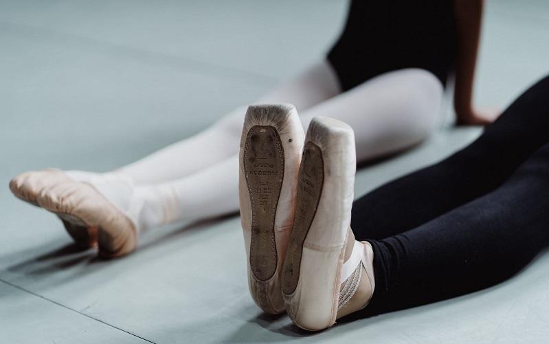 pointe shoes ballet shoes in studio. Diversity ballet dance UK