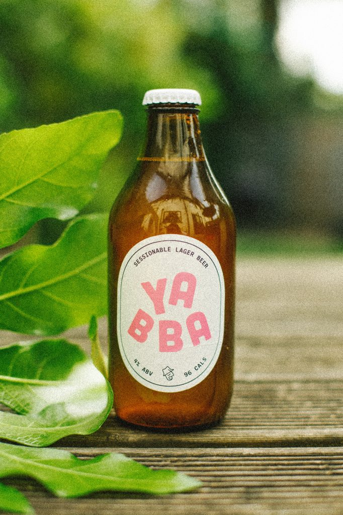 YABBA bottle, green leaves