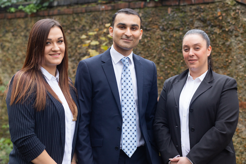 Hammad Cheema, Managing Director, Grace Peters, Operational Manager, Magdalena Zieba, Care Manager