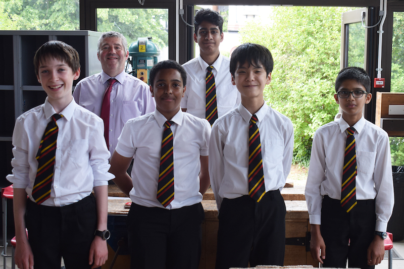 A photo of the year nine students and their teacher