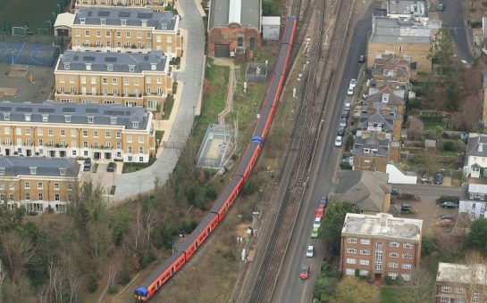 An overhead shot of the part of Twickenham where the railway disruption will take place
