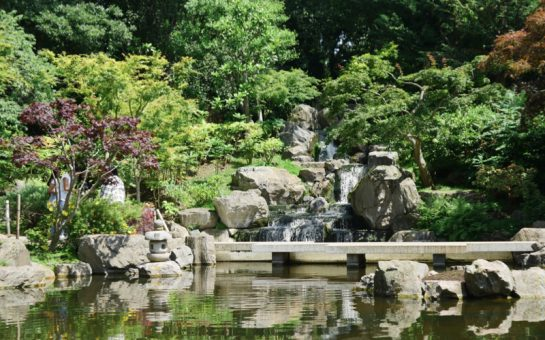Waterfall in Kyoto Gardens Holland Park Experience Japan from London