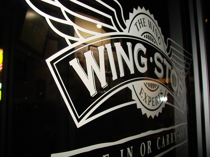 Wingstop logo in black and white text
