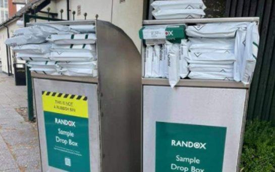 Randox PCR test drop-off bins