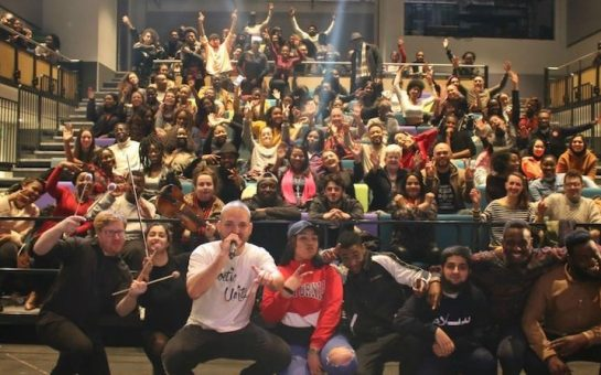 Group photo from Poetic Unity's Spoken Words Event
