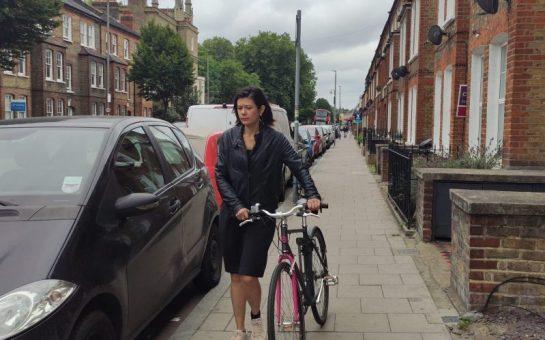 Sara Bainbridge with her bike
