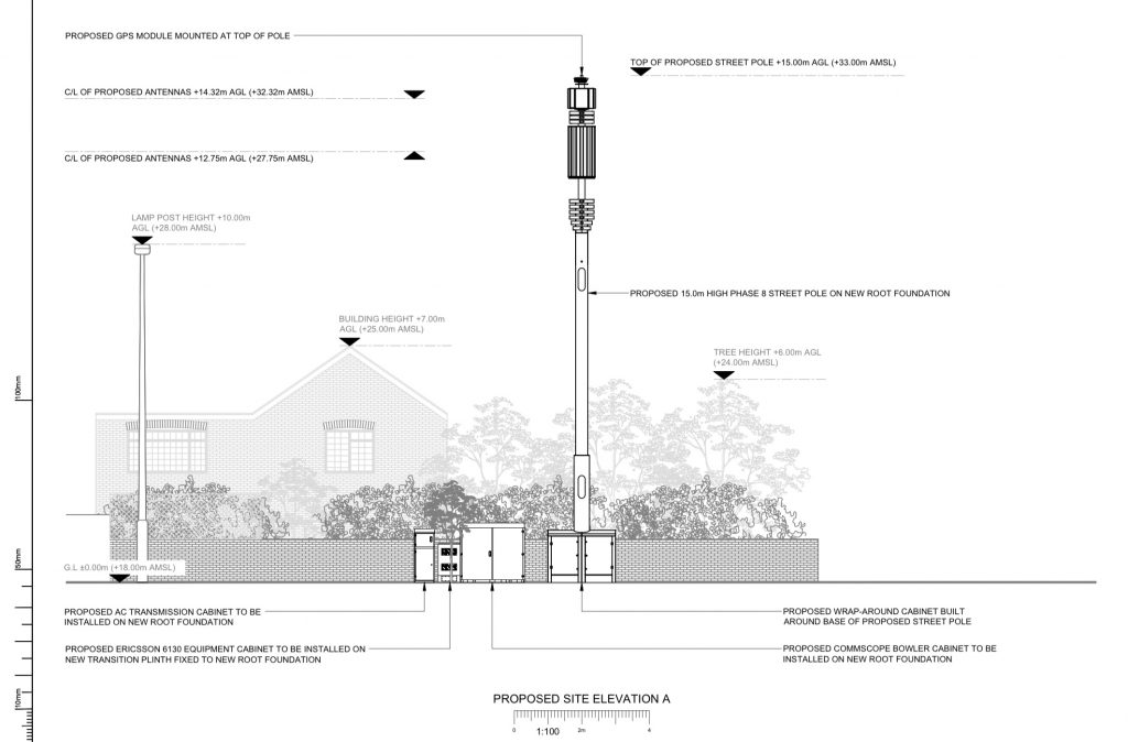 Diagram of proposed 5G mobile phone mast