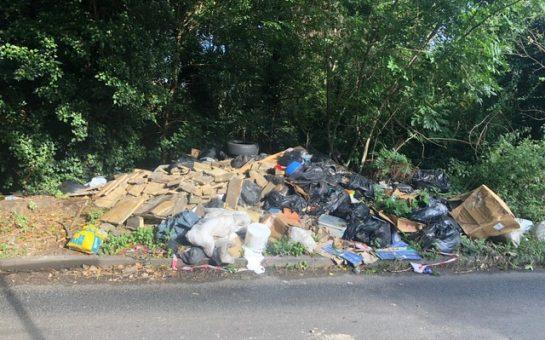 Rubbish Piled High in Merton