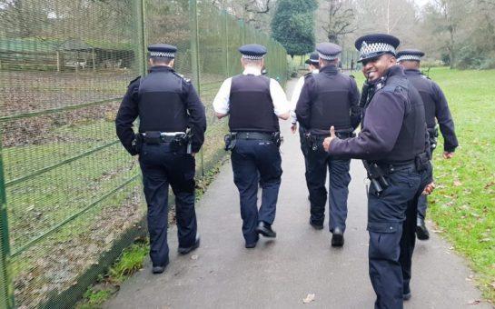 London Metropolitan Police Force officers on duty