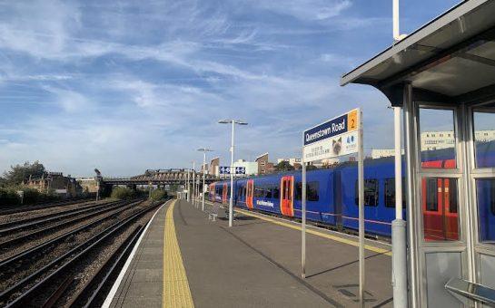 Queenstown Road Platform and SWR train