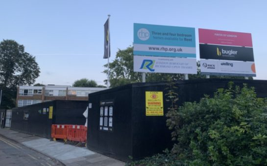 The outside of the RHP development at Bucklands Road, Teddington