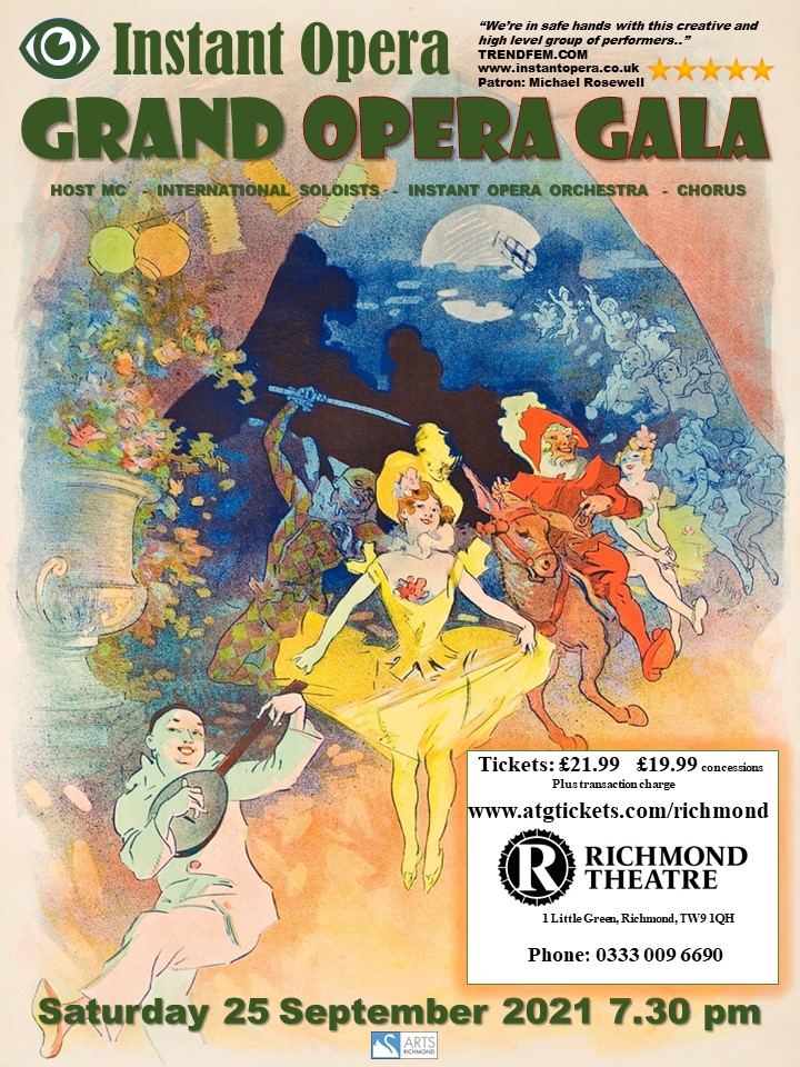 Poster for Instant Opera's Grand Opera Gala