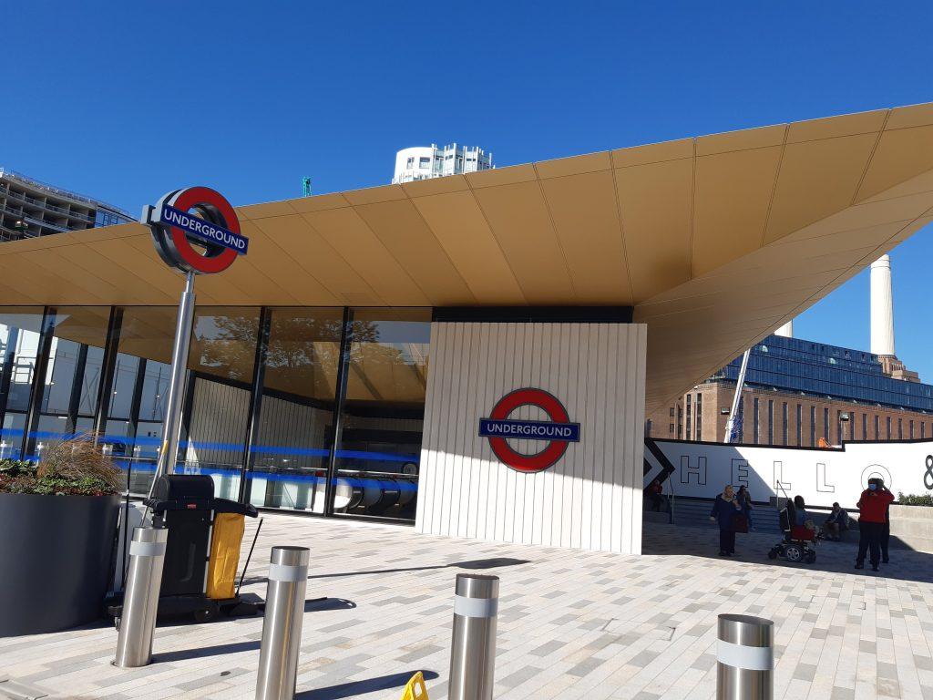 Outside of Battersea Power Station tube station