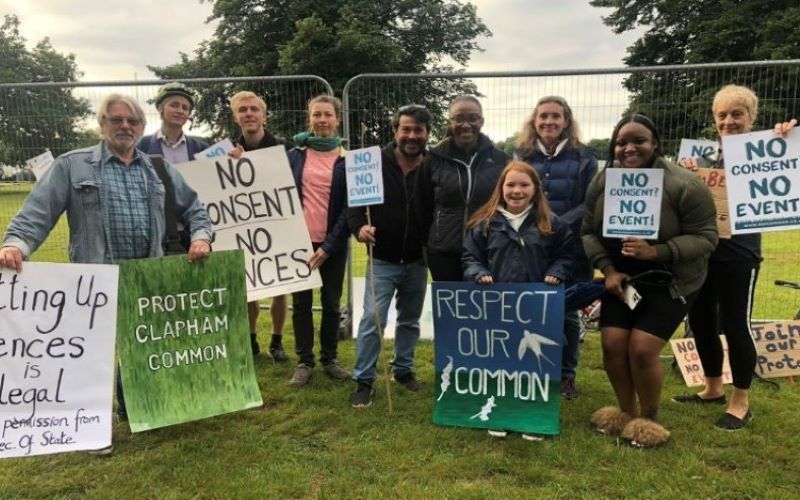 Friends of Clapham Common protest the festival
