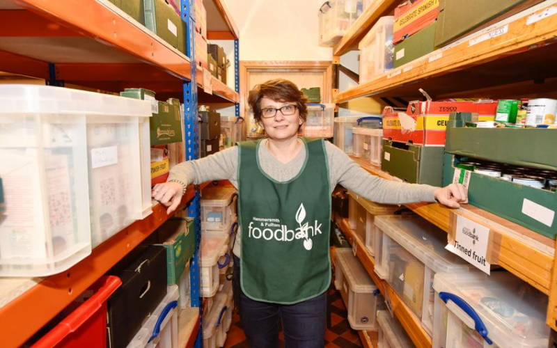 Daphine Aitkens, CEO of Hammersmith & Fulham Food Bank